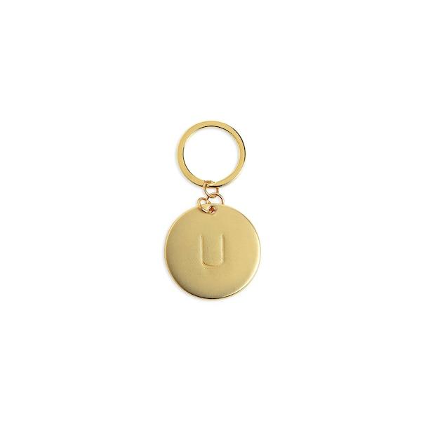Schlüsselanhänger U, gold