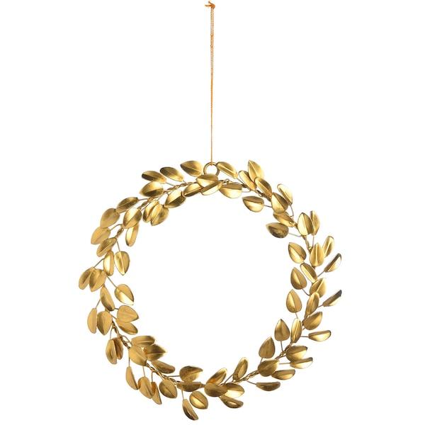 Anhänger Blätterkranz, gold