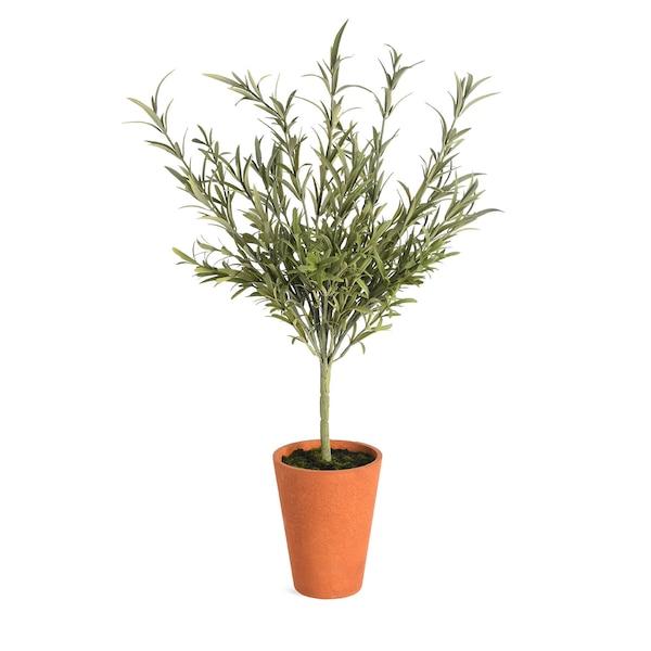 Kunstpflanze Rosmarin im Topf, grün