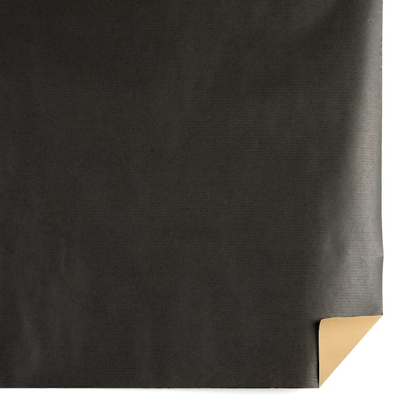 Papier kraft Uni, noir