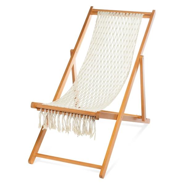 Beachchair Makramee, natur