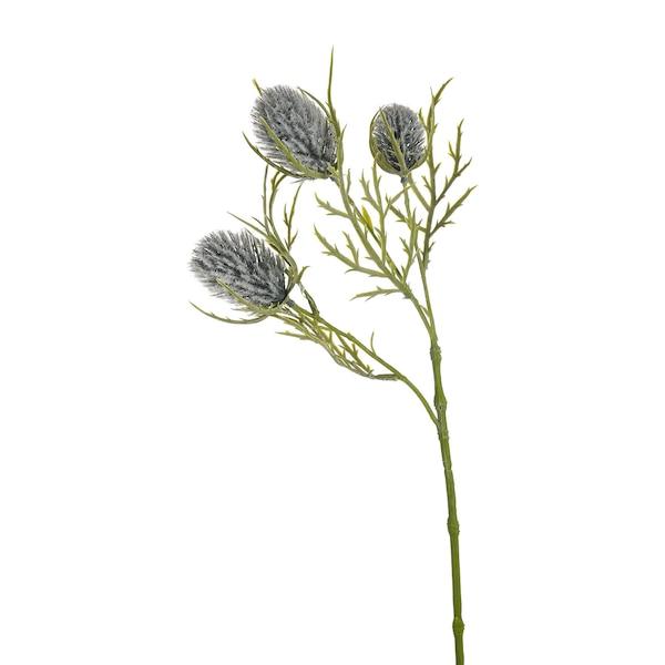 Kunstblume Diestel, graublau