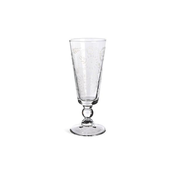 Verre à champagne Flower, clair