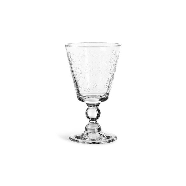 Weinglas Flower, klar
