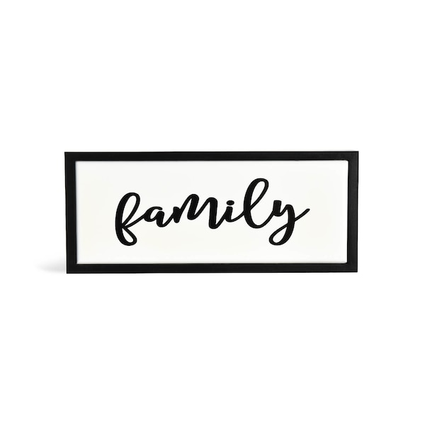 Schriftzug Family, schwarz