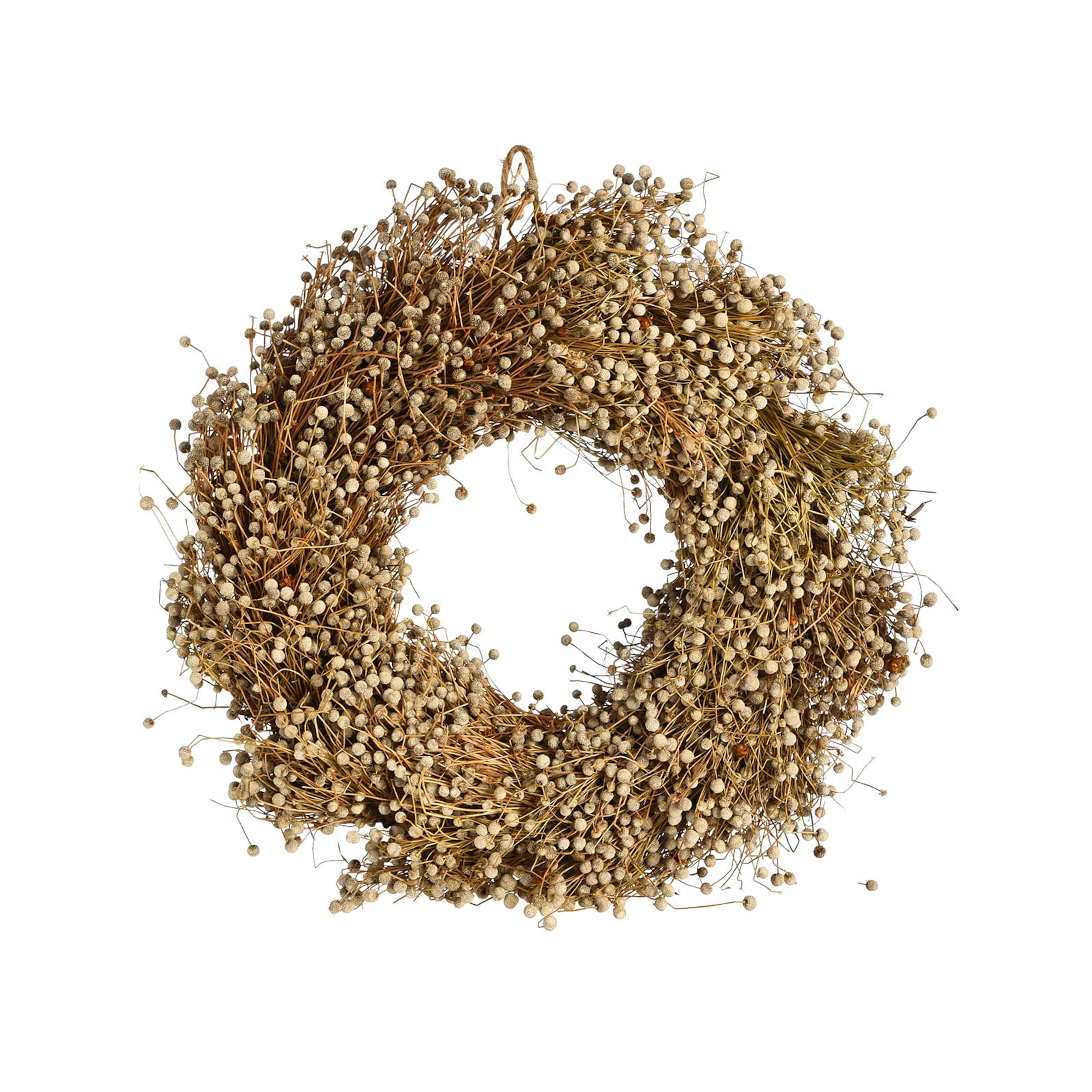 Kranz aus Trockenblumen, D:25cm, natur
