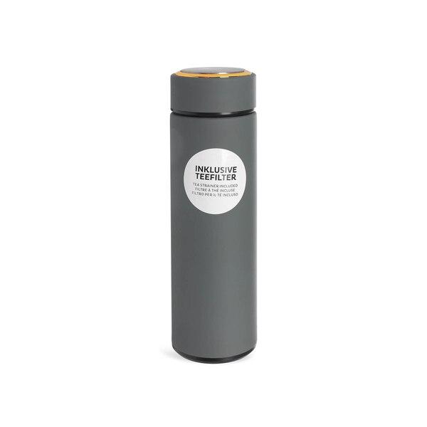 Isolierflasche mit Teefilter, grau