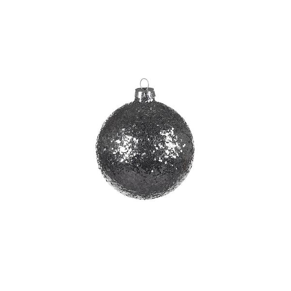 Glas-Weihnachtskugeln Glimmer, silber