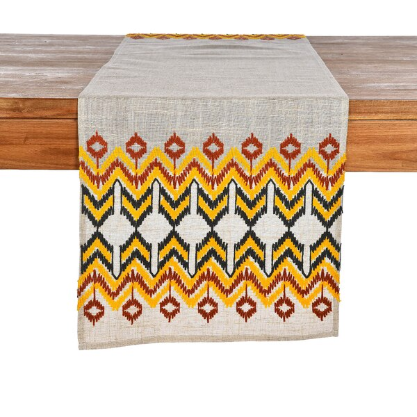Tischläufer Ethno Stitch, gelb