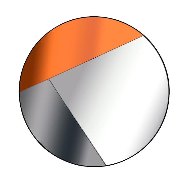 Deko-Wandspiegel dreigeteilt, bunt