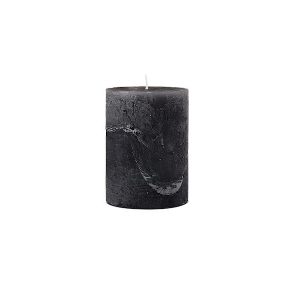 Bougie pilier Rustic, noir