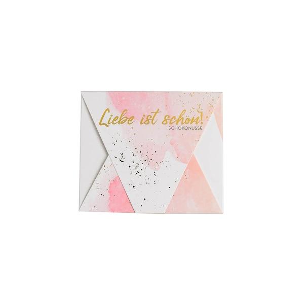 Schokonüsse in Briefschachtel , ohne Farbe