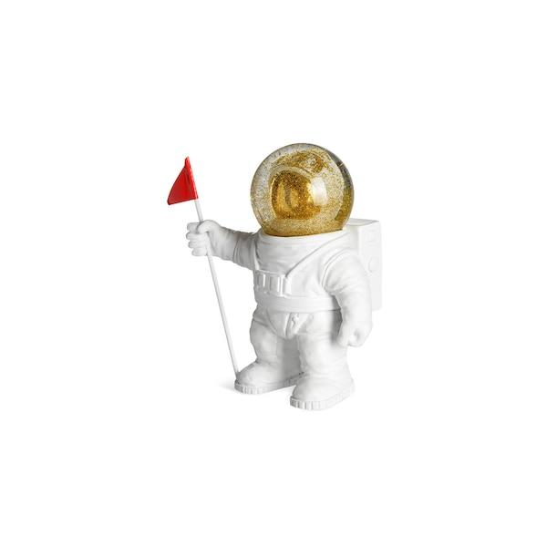 Schneekugel Astronaut, weiß