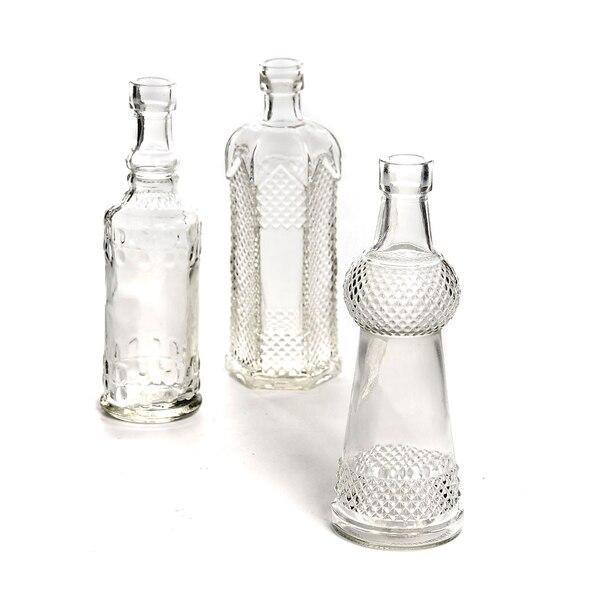 Flaschenvase aus Glas, klar
