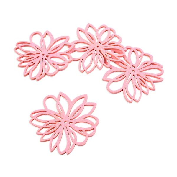 Untersetzer Blume, rosa