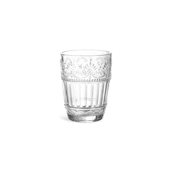 Trinkglas Floral, klar