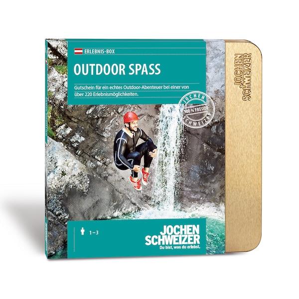 Gutscheinbox Outdoor Spaß - nur in Österreich erhältlich, bunt
