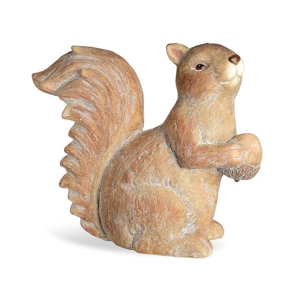 Figurine de décoration écureuils, marron clair