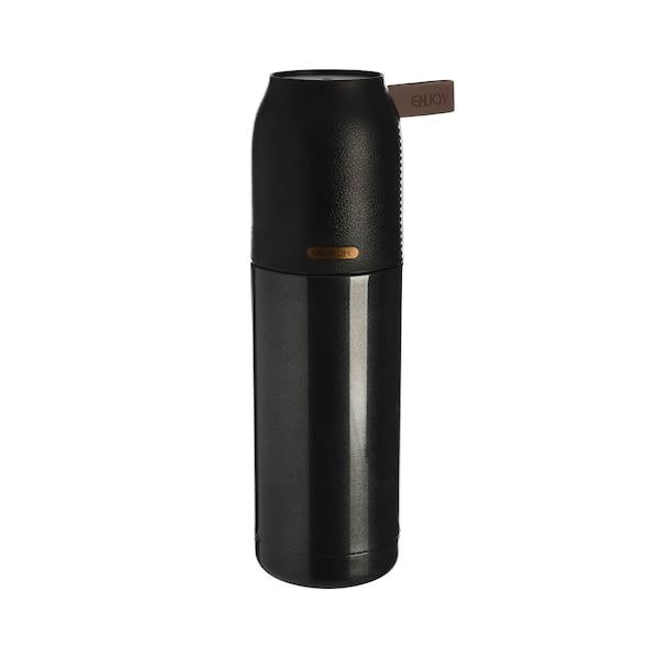 Isolierflasche, schwarz