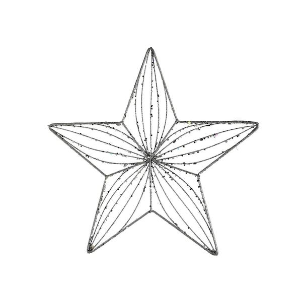 Anhänger Glitterstern, silber