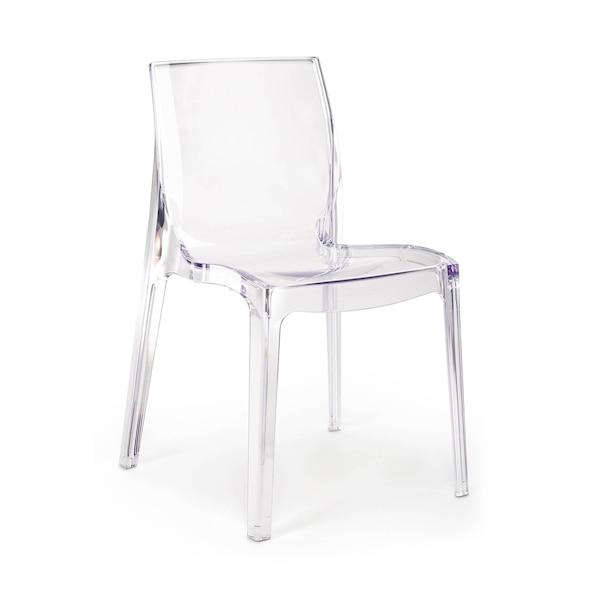 Kunststoff-Stuhl, transparent, klar