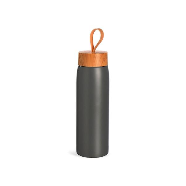 Isolierflasche , grau