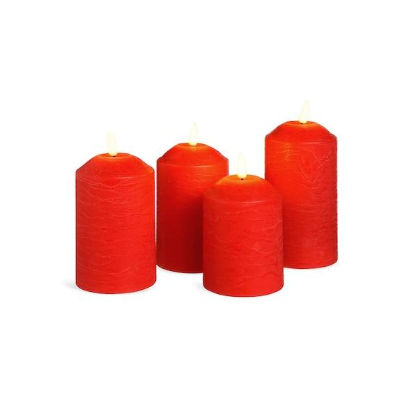 LED-Stumpenkerzen, rot