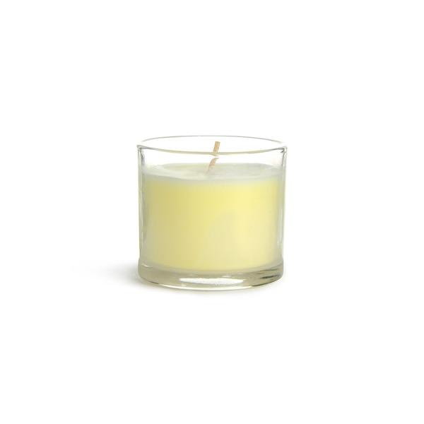 Bougie parfumée en verre, crème
