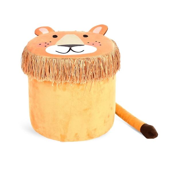 Aufbewahrungsbox Löwe, senfgelb