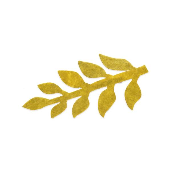 Filzblume Blatt, mintgrün