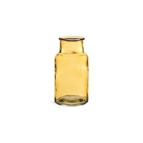 Vase aus Glas, gelb