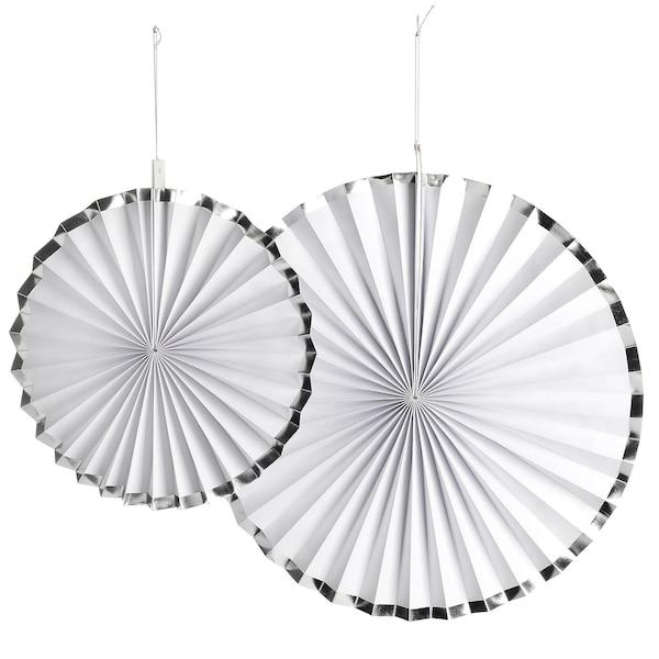 Dekofächer mit Silberrand, silber