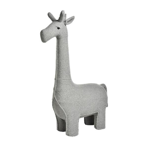 Hocker Giraffe, hellgrau