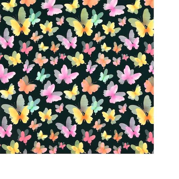 Geschenkpapier Schmetterling, bunt
