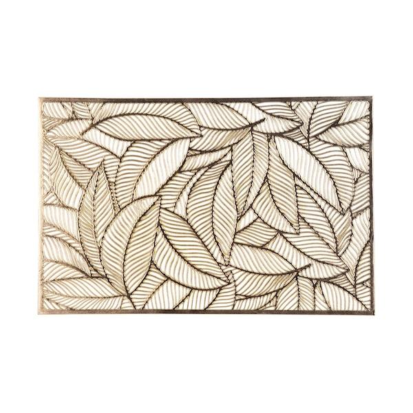 Tischset Lasercut Palmblatt, gold