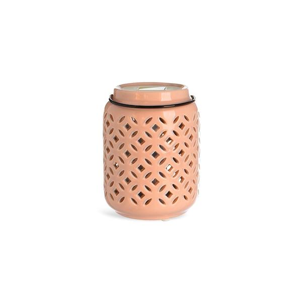 Solarleuchte Keramik, hellrosa