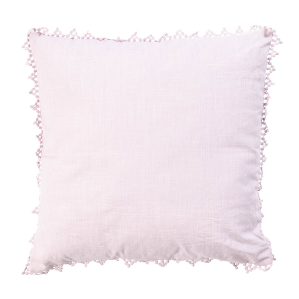 Coussin Romance, lilas clair