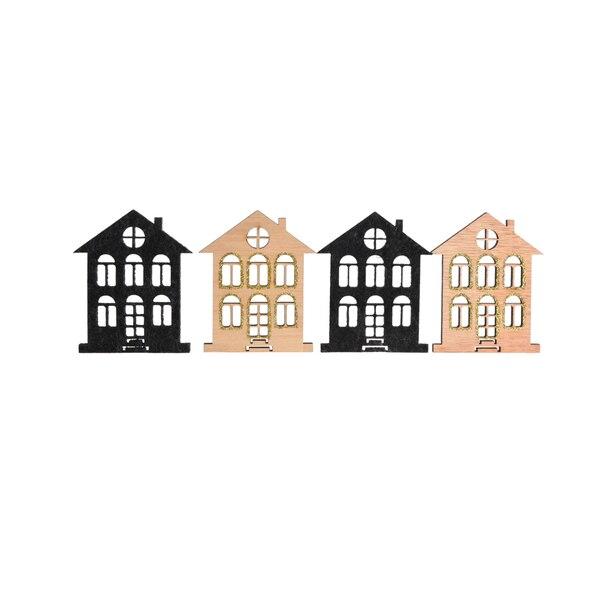 Dekoobjekt Häuser , bunt