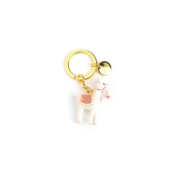 Porte-clés Alpaga, doré