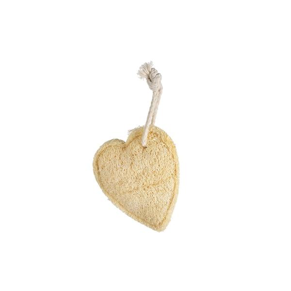 Loofah-Schwamm Herz, natur