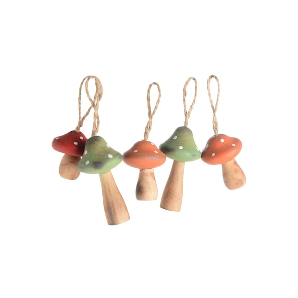 Suspension champignon, multicolore