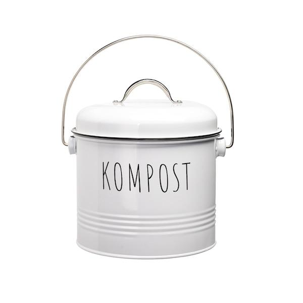 Komposteimer, weiß