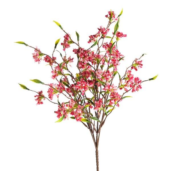 Kunstblumenpick Blütenbusch, pink