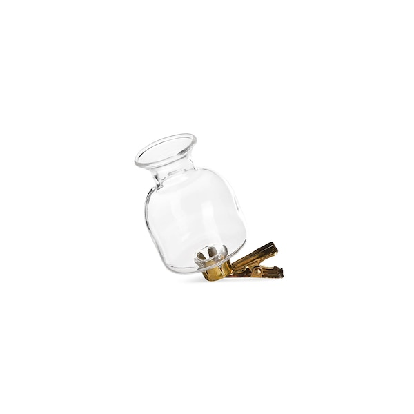 Vase auf Clip, klar