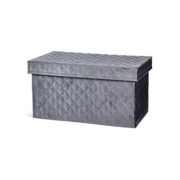 Samt-Box, dunkelgrau