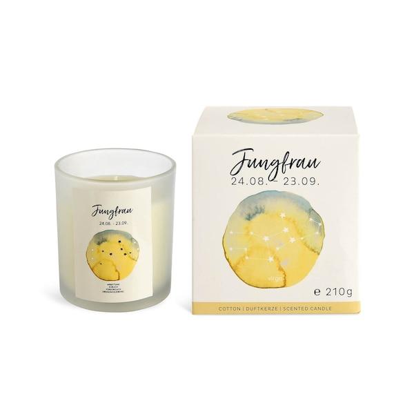 Duftkerze Jungfrau, weiß