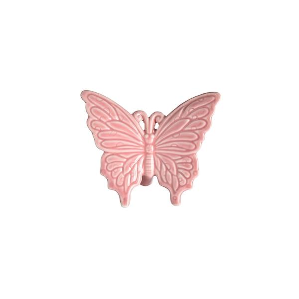 Figurine décorative papillon, rose