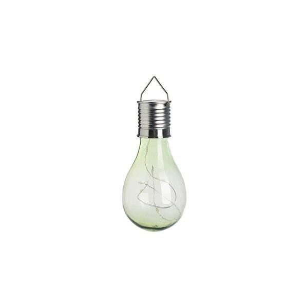 Solarleuchte Glühbirne, zartgrün
