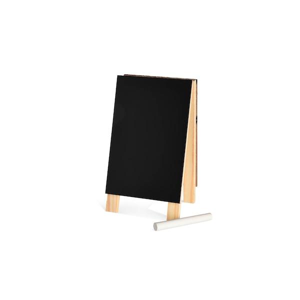 Tafel mit Kreide, schwarz