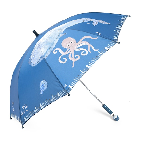 Regenschirm Wal, blau